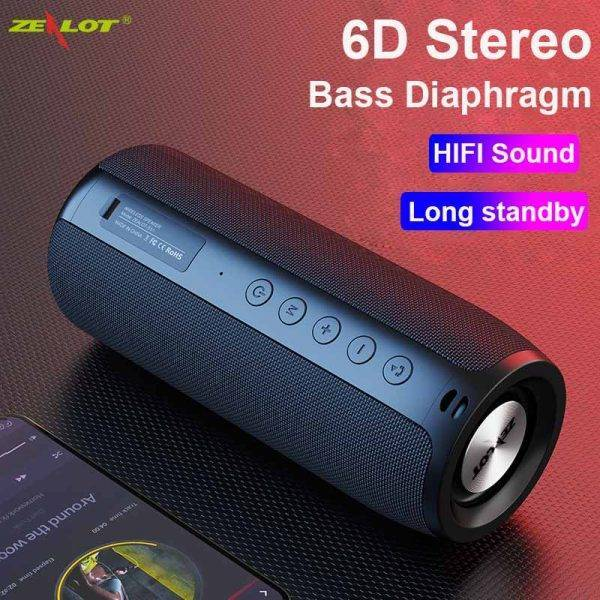 ZEALOT S51 For Bluetooth Wireless Computer Speakers Column Large Music Center Subwoofer Portable Outdoor Powerful Loud speakers ELECTRONICS Headphones